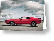 72 Mustang Greeting Card
