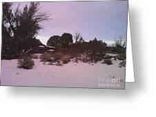 Snowy Desert Landscape Greeting Card
