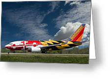 737 Maryland On Take-off Roll Greeting Card