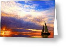 Art Landscape Nature  Greeting Card
