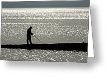78. One Man And His Rod Greeting Card