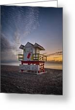 7898- Miami Beach Sunrise Greeting Card