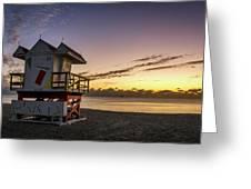 7901- Miami Beach Sunrise Greeting Card