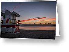 7935- Miami Beach Sunrise 14x25 Greeting Card