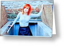 79361 Hayley Williams Paramore Women Singer Redhead Greeting Card