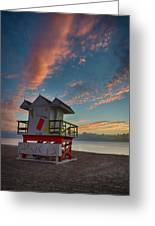 7944- Miami Beach Sunrise Greeting Card