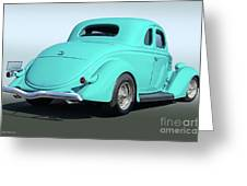 1936 Ford Coupe Greeting Card