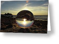 8-25-16--5717 Don't Drop The Crystal Ball, Crystal Ball Photography Greeting Card