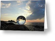 8-26-16--5878 Don't Drop The Crystal Ball, Crystal Ball Photography Greeting Card
