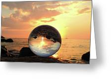8-26-16--5927 Don't Drop The Crystal Ball, Crystal Ball Photography Greeting Card