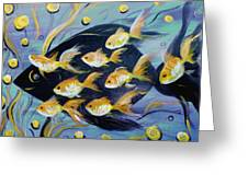 8 Gold Fish Greeting Card