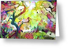 8 Abstract Japanese Maple Tree Greeting Card
