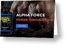 Alpha Force Testo Greeting Card