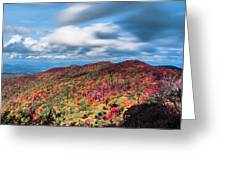 Beautiful Autumn Landscape In North Carolina Mountains Greeting Card