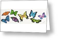 8 Butterflies Greeting Card
