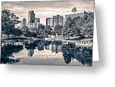 Charlotte City North Carolina Cityscape During Autumn Season Greeting Card