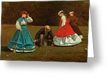 Croquet Scene Greeting Card