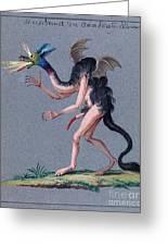 Demonology, 18th Century Greeting Card