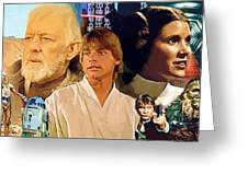 Galaxies Star Wars Poster Greeting Card