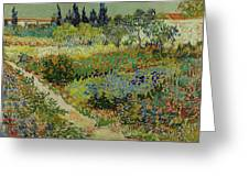 Garden At Arles Greeting Card