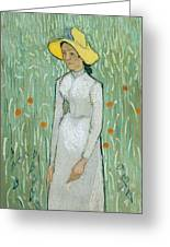 Girl In White Greeting Card