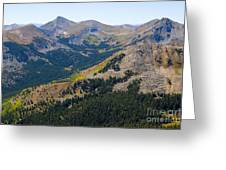 Autumn Tundra Turning To Gold  On Mount Yale Colorado Greeting Card