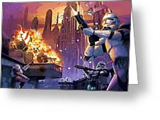 Imperial Star Wars Poster Greeting Card