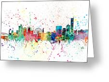 Manchester England Skyline Greeting Card