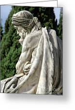 Monumental Cemetery Of Staglieno Greeting Card