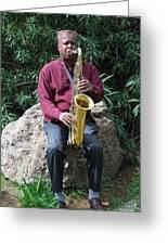 Muslim Jazz Musician. Greeting Card