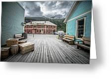 Port Of Skagway Alaska Near White Pass British Columbia Canada Greeting Card