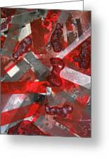8 Red Objects Greeting Card