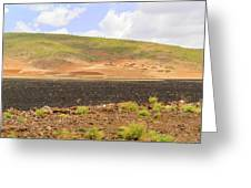 Rural Landscape In Ethiopia Greeting Card