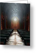 Stained Glass Window Church Greeting Card