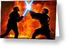 Star Wars Old Poster Greeting Card