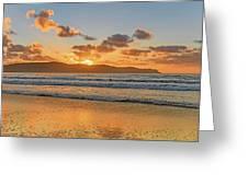 Sunrise Seascape At The Beach Greeting Card