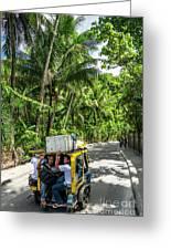 Tuk Tuk Trike Taxi Local Transport In Boracay Island Philippines Greeting Card