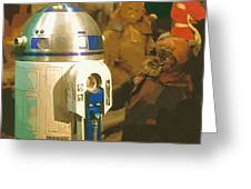 Video Star Wars Poster Greeting Card