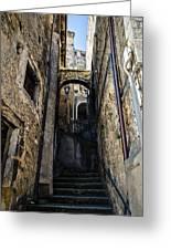Walking Through The Streets Of Pretoro - Italy  Greeting Card