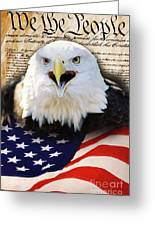 We The People. Greeting Card