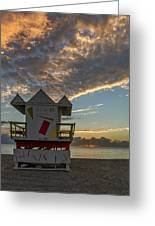 8003- Miami Beach Sunrise Greeting Card