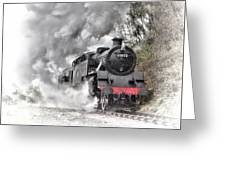 80072 Steaming In The Rain Greeting Card