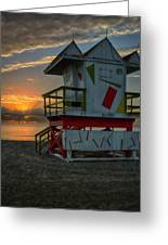 8097- Miami Beach Sunrise Greeting Card