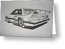 80s Mustang - Rear View Greeting Card