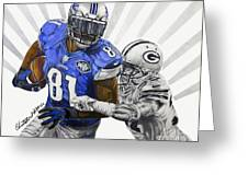 #81 Calvin Johnson Greeting Card