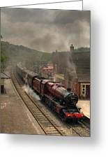 8624 At Froghall Station Greeting Card