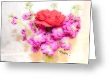 #8742 Soft Flowers Greeting Card