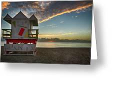 8990- Miami Beach Sunrise Greeting Card