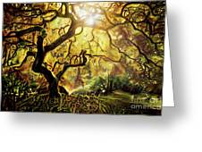 9 Abstract Japanese Maple Tree Greeting Card