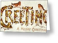American Christmas Card Greeting Card